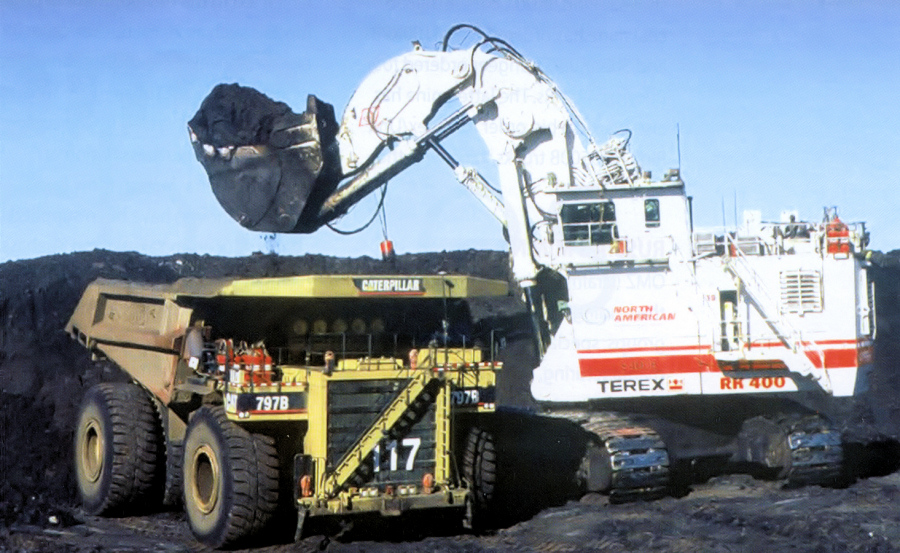 hydraulic shovel Coal strip mine